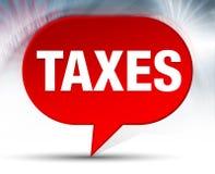 Fundo vermelho da bolha dos impostos ilustração do vetor