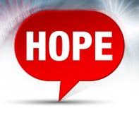 Fundo vermelho da bolha da esperança ilustração royalty free