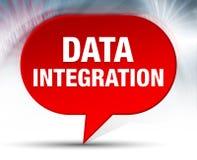Fundo vermelho da bolha da integração de dados ilustração do vetor