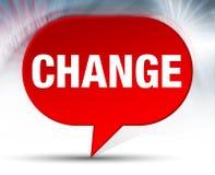 Fundo vermelho da bolha da mudança ilustração royalty free