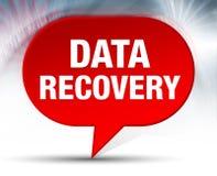 Fundo vermelho da bolha da recuperação dos dados ilustração do vetor