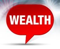 Fundo vermelho da bolha da riqueza ilustração royalty free