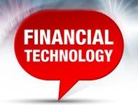 Fundo vermelho da bolha da tecnologia financeira ilustração royalty free
