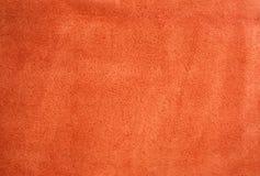 Fundo vermelho da camurça Fotografia de Stock