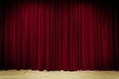 Fundo vermelho da cortina Imagens de Stock