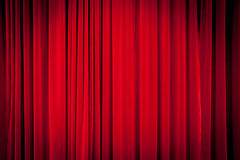 Fundo vermelho da cortina Fotografia de Stock Royalty Free