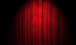 Fundo vermelho da cortina Fotos de Stock Royalty Free