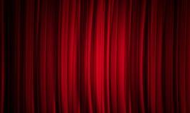 Fundo vermelho da cortina Imagem de Stock Royalty Free