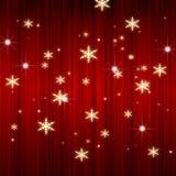 Fundo vermelho da cortina de X'mas Fotografia de Stock