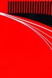 Fundo vermelho da curva Imagens de Stock