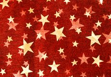 Fundo vermelho da estrela Imagem de Stock