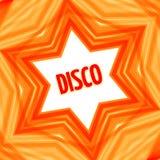 Fundo vermelho da estrela do disco Fotos de Stock