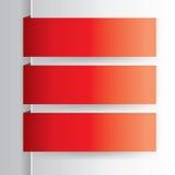 fundo vermelho da etiqueta Fotos de Stock