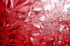 Fundo vermelho da geada Imagem de Stock Royalty Free