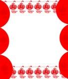 Fundo vermelho da lanterna Imagens de Stock Royalty Free