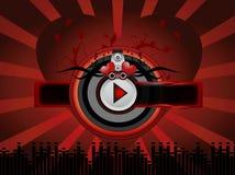 Fundo vermelho da música Imagem de Stock Royalty Free