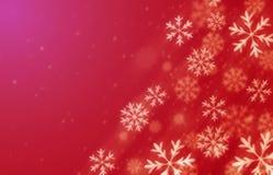 Fundo vermelho da neve ilustração stock
