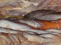 Fundo vermelho da textura da rocha Imagem de Stock