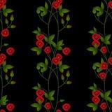 Fundo vermelho da textura das flores do teste padrão floral sem emenda Fotografia de Stock Royalty Free