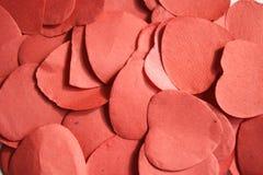 Fundo vermelho da textura do coração Foto de Stock