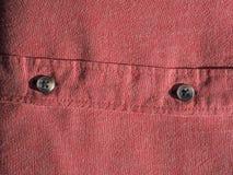 Fundo vermelho da textura do tecido de algodão Imagens de Stock