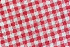 Fundo vermelho da toalha de mesa do piquenique Imagem de Stock
