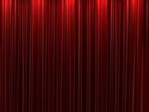 Fundo vermelho das cortinas de veludo Fotografia de Stock