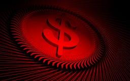 Fundo vermelho de Digitas Foto de Stock Royalty Free