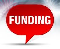 Fundo vermelho de financiamento da bolha ilustração do vetor