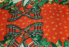 Fundo vermelho de matéria têxtil da textura do Natal com verde branco vermelho b Fotos de Stock Royalty Free