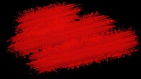 Fundo vermelho de pintura do Grunge da escova para títulos ou o outro seu texto com canal alfa Vintage retro da arte da aquarela filme