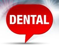 Fundo vermelho dental da bolha ilustração stock