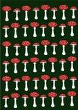 Fundo vermelho do amanita Imagem de Stock Royalty Free