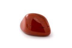 Fundo vermelho do branco da gema do jaspe Imagem de Stock Royalty Free