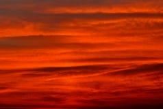 Fundo vermelho do céu Fotografia de Stock