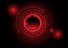 Fundo vermelho do círculo da tecnologia abstrata ilustração do vetor
