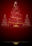 Fundo vermelho do cartão de Natal Fotografia de Stock Royalty Free