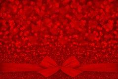 Fundo vermelho do dia de Valentim da textura do brilho Foto de Stock