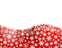 Fundo vermelho do floco de neve Fotos de Stock Royalty Free