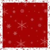 Fundo vermelho do floco de neve Ilustração Royalty Free