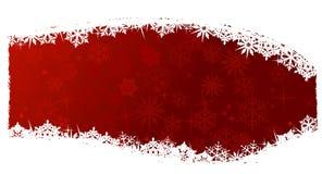 Fundo vermelho do floco de neve Imagens de Stock Royalty Free