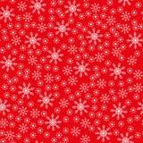Fundo vermelho do floco de neve sem emenda do Natal ilustração royalty free