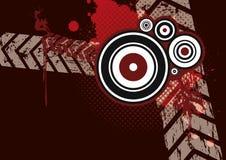 Fundo vermelho do grunge Fotografia de Stock Royalty Free