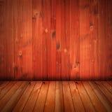 Fundo vermelho do interior da casa da textura do wod imagens de stock