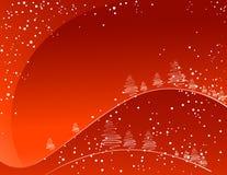Fundo vermelho do inverno Imagem de Stock