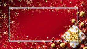 Fundo vermelho do luxo do Natal ilustração do vetor
