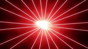 Fundo vermelho do movimento dos raios dos raios laser vídeos de arquivo