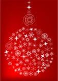 Fundo vermelho do Natal com esfera ilustração stock