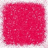 Fundo vermelho do Natal com flocos de neve ilustração do vetor