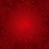 Fundo vermelho do Natal da elegância abstrata Fotos de Stock